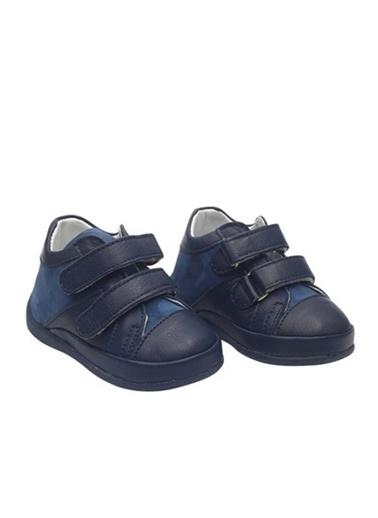 Kids A More Bluey Çift Cırtlı Deri Erkek Ilk Adım Ayakkabısı  Lacivert